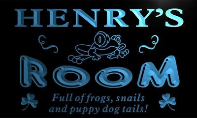 x0046-tm Henrys Room Nursery Kids Frog Custom Personalized Name Neon Sign Wholesale Dropshipping On/Off Switch 7 Colors DHL