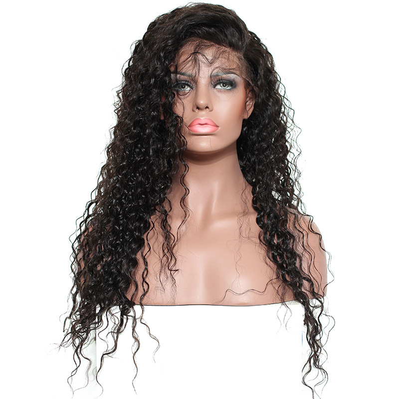 Lace Front Human Hair Wigs For Women Natural Black Pre Plucked 250% Density Brazilian Pictured 24inches 3