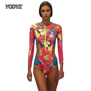 943d803ff6 YCDYZ Sexy High Cut One Piece Swimsuit 2018 Women Long Sleeve Push up  Surfing Swimwear