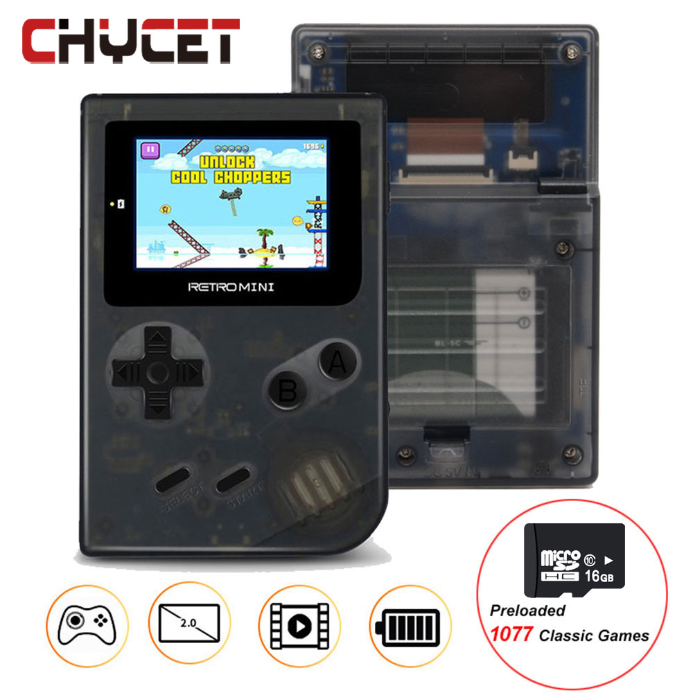 Mini portable Handheld Game Player console Built in 40 games with 1077 SD Card Games For GBA Classic Retro game PK GB BOY player