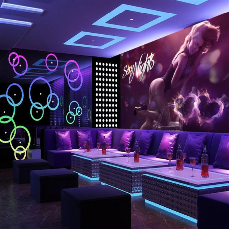 Beibehang Custom 3d Wallpaper Sexy Beauty Hotel Nightclub KTV Tooling Mural Backdrop Decoration