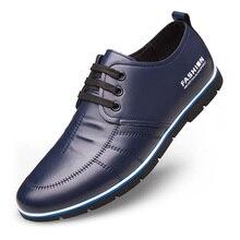 حذاء رجالي مريح مريح للقيادة في الهواء الطلق من الألياف الدقيقة مناسب لربيع وخريف الأعمال من الألياف الصناعية