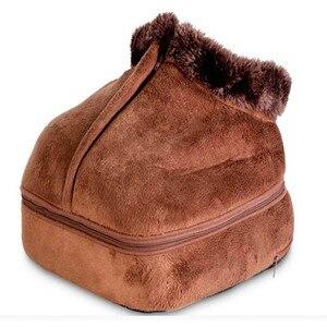 Image 3 - Chaussure de Massage électrique chauffante 2 en 1, accessoire confortable unisexe, chauffant, taille, en velours