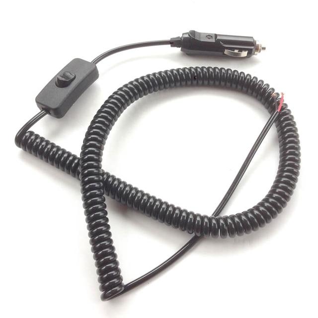 120w 12v Car light switch Cigarette lighter plug adapter Spring wire ...