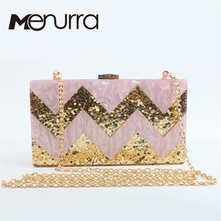 ФОТО 2016 new Women messenger bags bride wedding dress luxury eveningbag high-grade designer handbags Striped vintage clutch hot sale