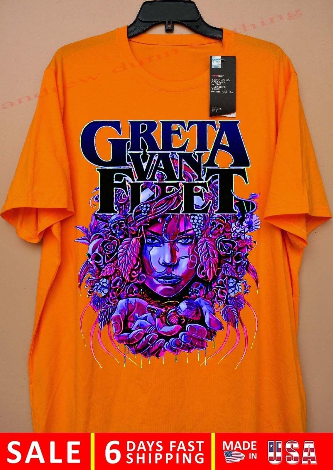 987b7003c4ea Aliexpress.com : Buy GRETA VAN FLEET TOUR DATES 2018 T Shirt from Reliable  T-Shirts suppliers on GONGNIU Store