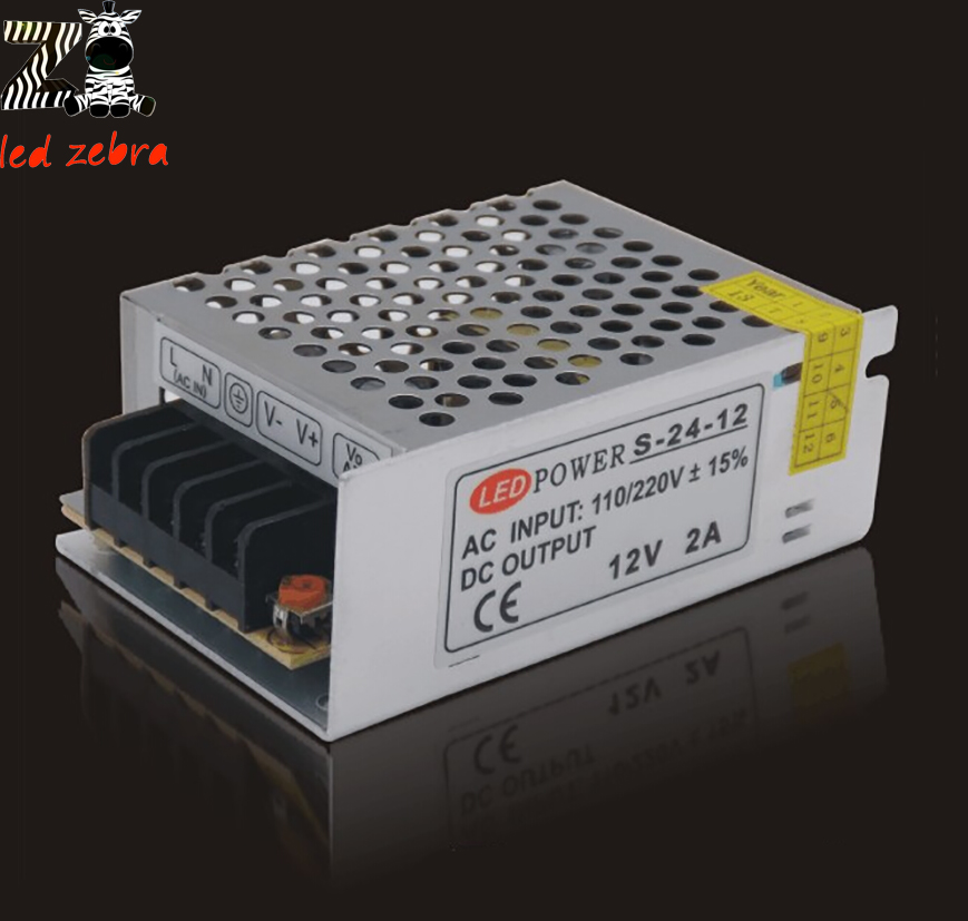 DC12V 2A Led Power Supply Transformer,Constant Current Led Driver,24W Led Power Adapter AC100-240V water resistance 19 24w led constant current source power supply driver 90 265v