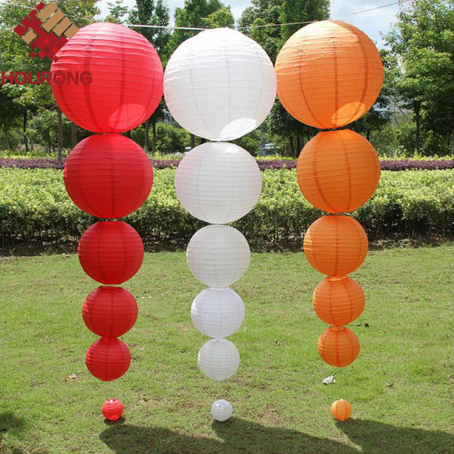 5pcslot chinese paper lantern for party wedding decoration supplies 5pcslot chinese paper lantern for party wedding decoration supplies hanging paper ball round lamp junglespirit Image collections