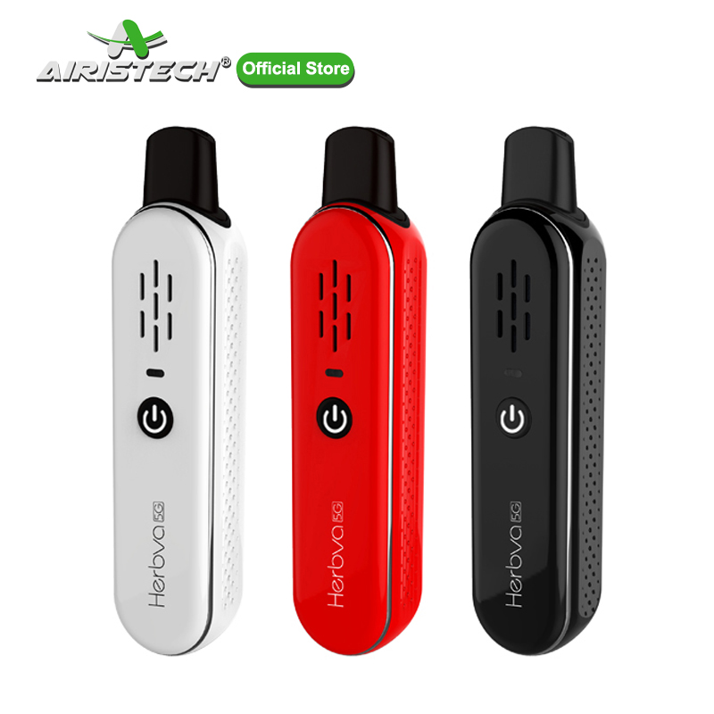 AIRISTECH Herbva 5G Dry Herb Vaporizer for Weed Portable Vape Pen Kit Temperature Control Ceramic Chamber Electronic Cigarette(China)