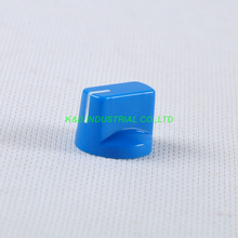 10pcs Colorful Blue Vintage Control Plastic Knob Spline Shaft 18T Potentiometer 2015 new hifi store taiwan copper shaft 24 steps 2 channel blue dale l type potentiometer l1511 19