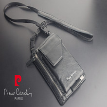 Pierre Cardin Male Casual Shoulder Bag Man Bag Cowhide Genuine Leather Bag Strap For iphone X/8/8 Plus Pouch Mobile Phone Bag bag matilda italy bag page 8
