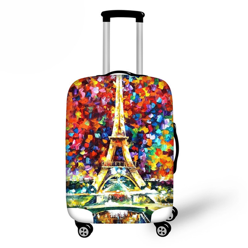 Eiffel Tower Travel Accessories,Dust Luggage Protective Covers Butterfly Printing Suitcase Cover For 18-28 Inch Trunk Suit Case