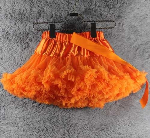 Юбка для маленьких девочек; детская Пышная юбка-американка для девочек; винно-красная юбка-пачка; детская юбка; пышная юбка-пачка для маленьких девочек; - Цвет: Оранжевый
