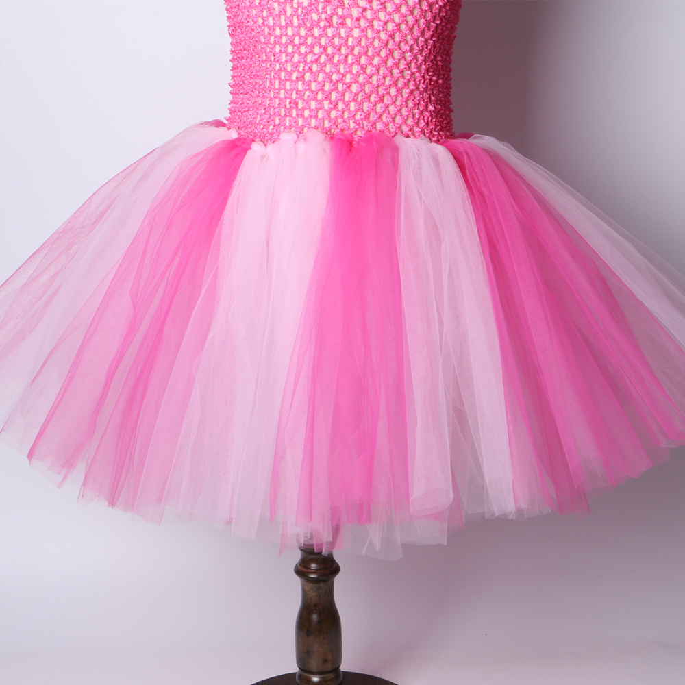 Unicorn Tutu Costume Rose Halloween Pinkie poney enfants ados fantaisie Jupe Robe UK