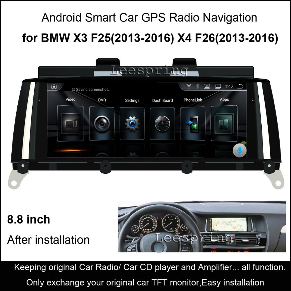 8 8 touch android 4 4 car radio audio stereo for bmw x3. Black Bedroom Furniture Sets. Home Design Ideas