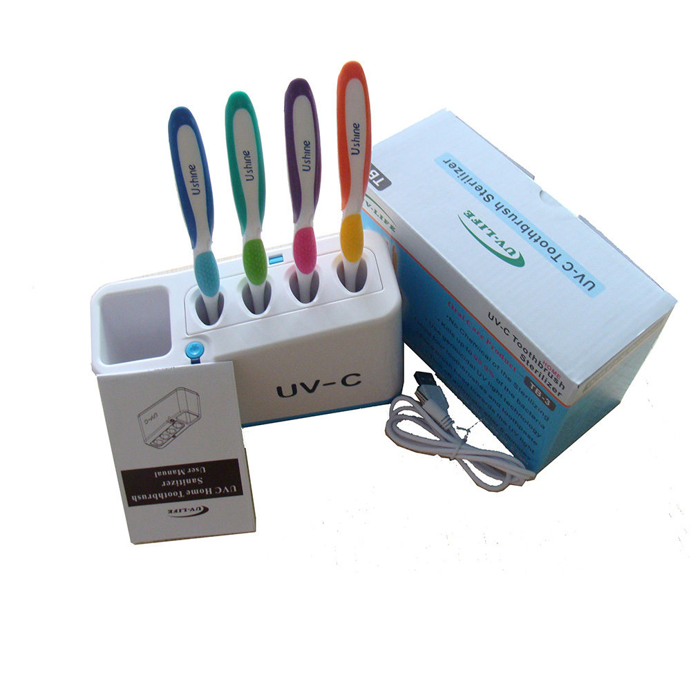 The toothbrush sterilizer uses high quality ultraviolet lamp to sterilize and protect your gums healthfully.|Household UV Sterilizers| |  - title=
