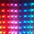 40X WS2811 diâmetro 35mm 360 graus 3D magic color led bola entrada DC12V 10 PCS/string tampa leitosa frete grátis