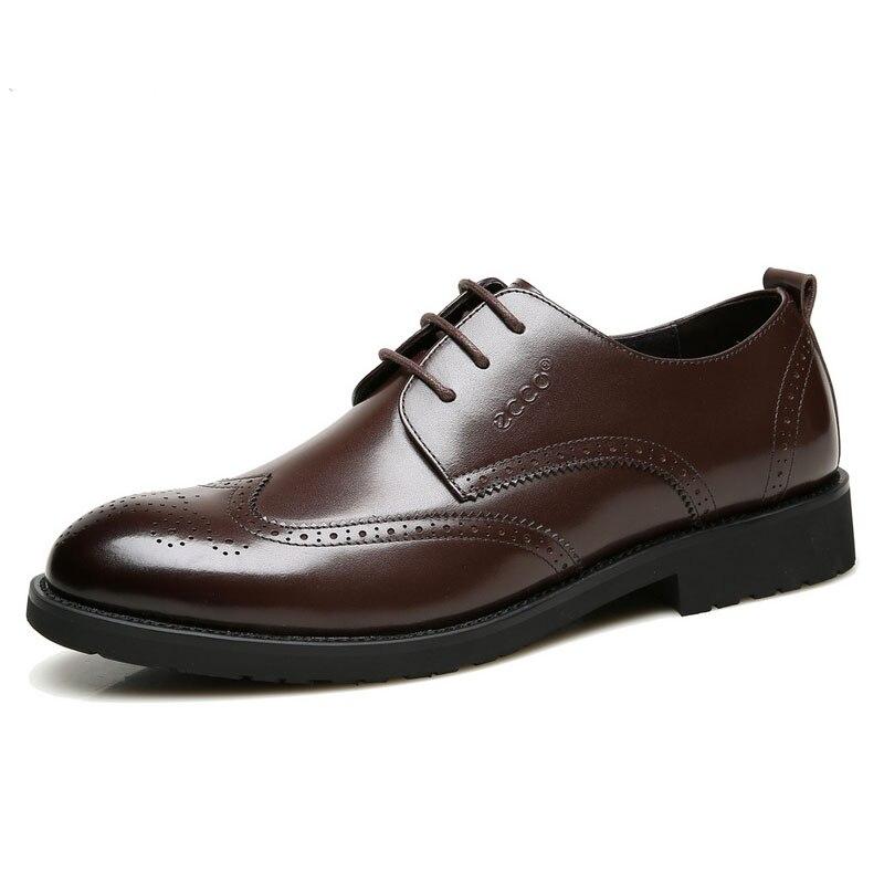 ECCO  Brand Fashion Men  Business Shoes Men Casual Dress Shoes Retro Footwear Male Shoes Wear Comfortable 670256ECCO  Brand Fashion Men  Business Shoes Men Casual Dress Shoes Retro Footwear Male Shoes Wear Comfortable 670256