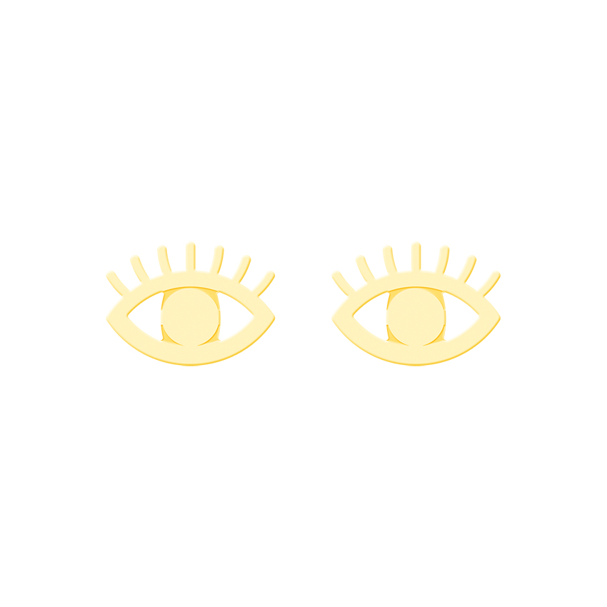 Evil Eye Earrings For Women Vintage Jewellery Stainless Steel Ear Studs Rose Gold Korean Earrings 2018 Brincos Kids Sister Gifts