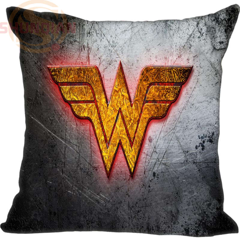 New Wonder Woman Logo Pillowcase Wedding Decorative Pillow Case Customize Gift For Pillow Cover 35X35cm,40X40cm(One Sides)
