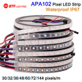 Wholesale APA102  IP67 waterproof in tube 30/32/36/48/60/72/144 leds/pixels/m ,led digital strip individual addressable DC5V