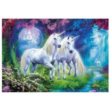 DIY diamond painting Unicorn couple animal full dimaond embroidery Fantasy wonderland unicorn mosaic wall decor