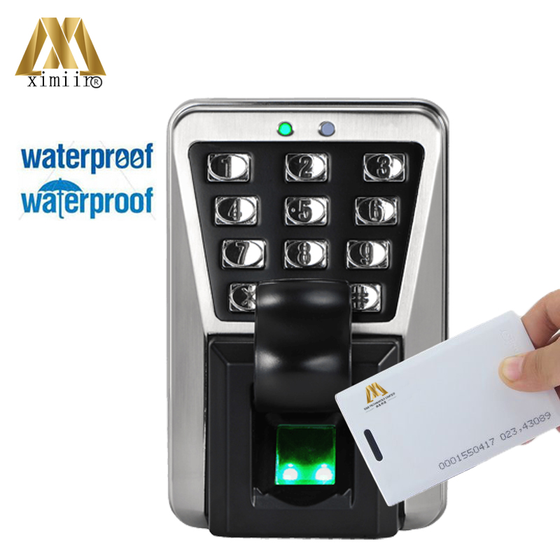 ZK IP65 MA500 Good quality Biometric Waterproof Fingerprint Door Access Control With 125KHZ RFID Card Reader zk tf1700 ip65 waterproof biometric fingerprint access control system 125khz rfid card access controller with rj45 communication