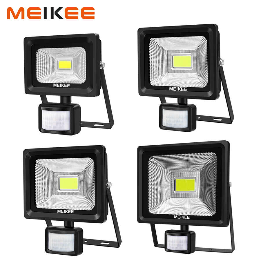 10W 20W 30W 50W LED Flood Light Motion Sensor Waterproof AC110-220V LED PIR Floodlight Reflector Projector Outdoor Spotlight