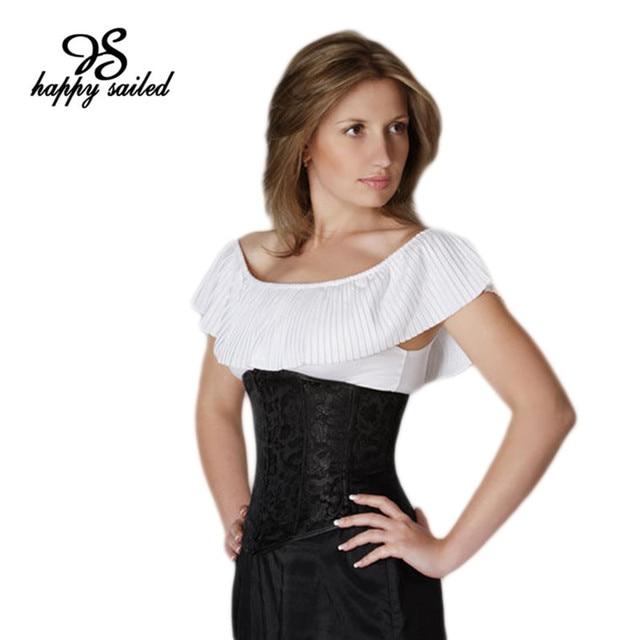 Preto Branco Floral Brocade Sob o busto do Espartilho Cintura Cincher corpete corselet sexy mulheres moda Lingerie com o G-corda 5100