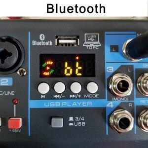 Image 3 - LOMOEHO AM 04 2 моно + 1 стерео 4 канала Bluetooth USB 48 В Phantom Профессиональный DJ аудио микшер