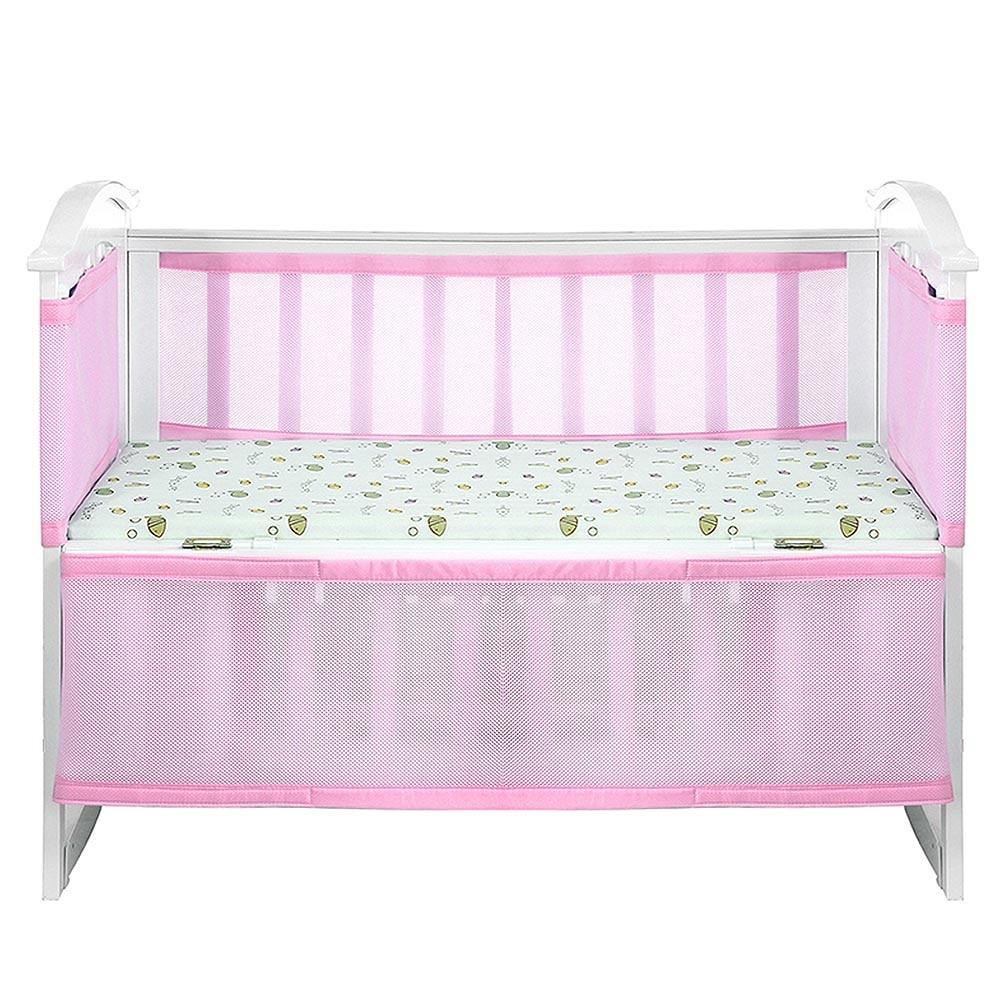 2Pc Newborn Breathable Crib Enclosures Baby Collision-proof Bed Enclosure Breathable Crib Bumper Protection Supplies