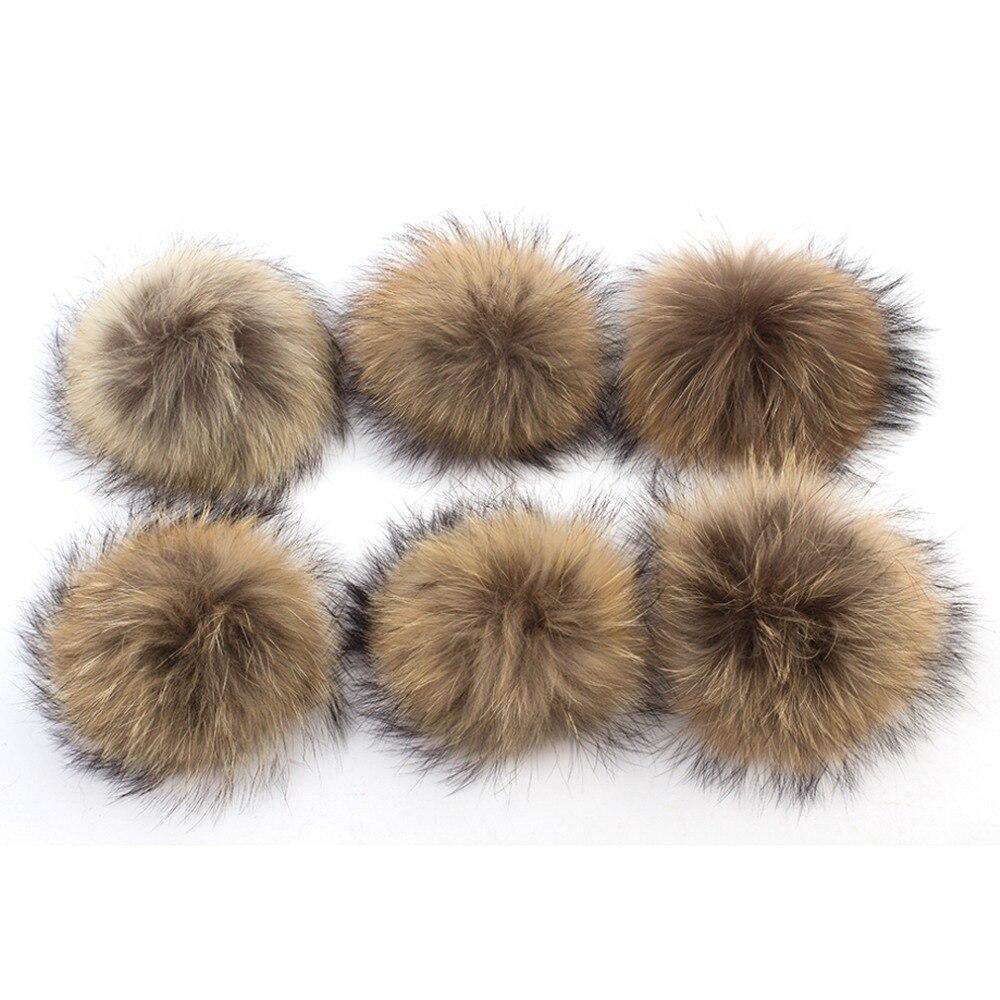 10 Pcs 13 15 Cm Echte Natürliche Waschbär Pelz Pompons Big Pelz Kugeln Für Winter Mützen Schal Zubehör Echtpelz Pom Pom
