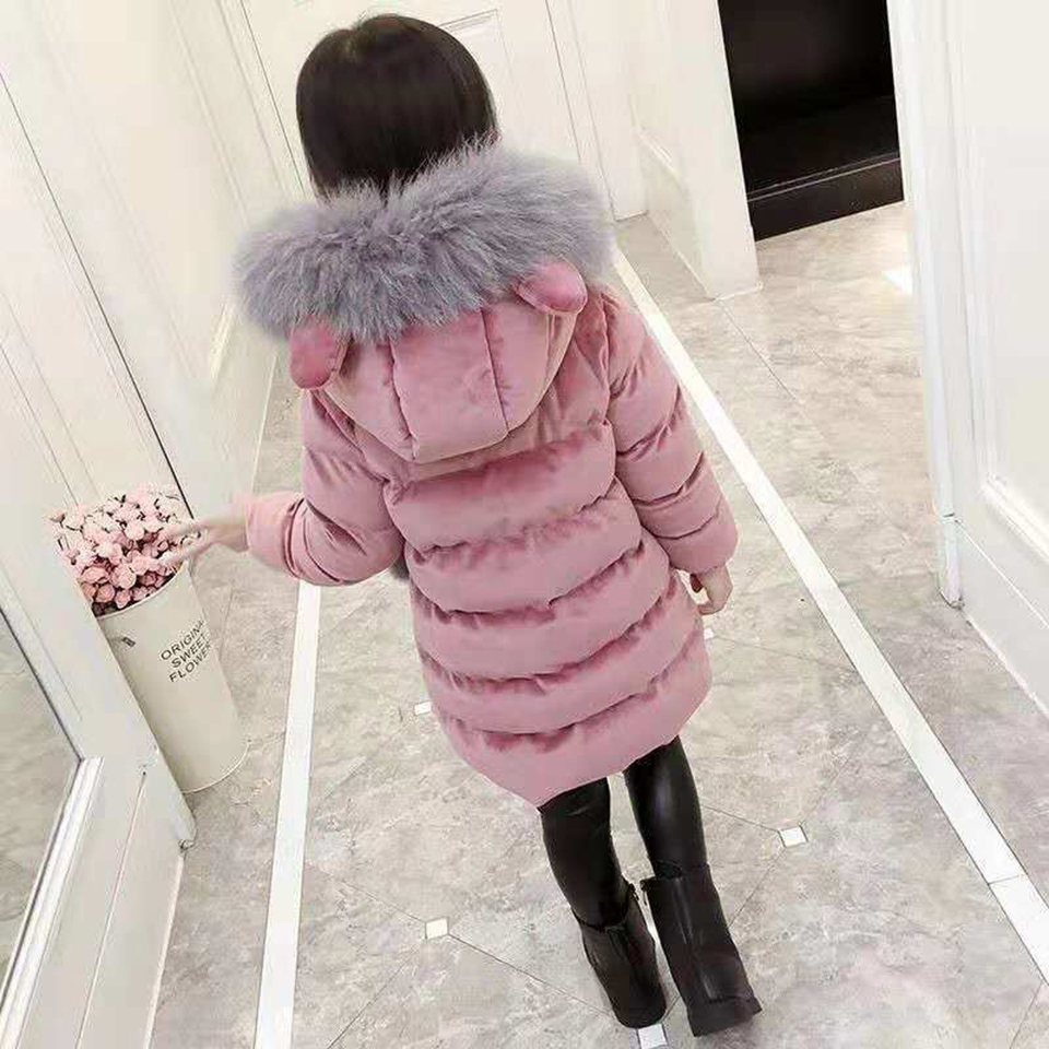 2018 New Winter Children Baby Girl Thick Coats Clothes Kids Overcoat Baby Girl Parka Girl 2 Colors Newborn Baby Girl Clothes wholessale children 2016 fashion style new arrival es winter party clothes brand es baby girl clothes pattern new nice hot
