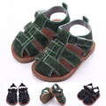 Baby Sandals Flat Sole Summer Infant boys Shoes Child Sandal's Black Green 0-1years