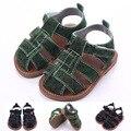 Sandálias do bebê Verão Infantis meninos Sapatos de Sola Plana Sandália Criança Verde Preto das 0-um ano
