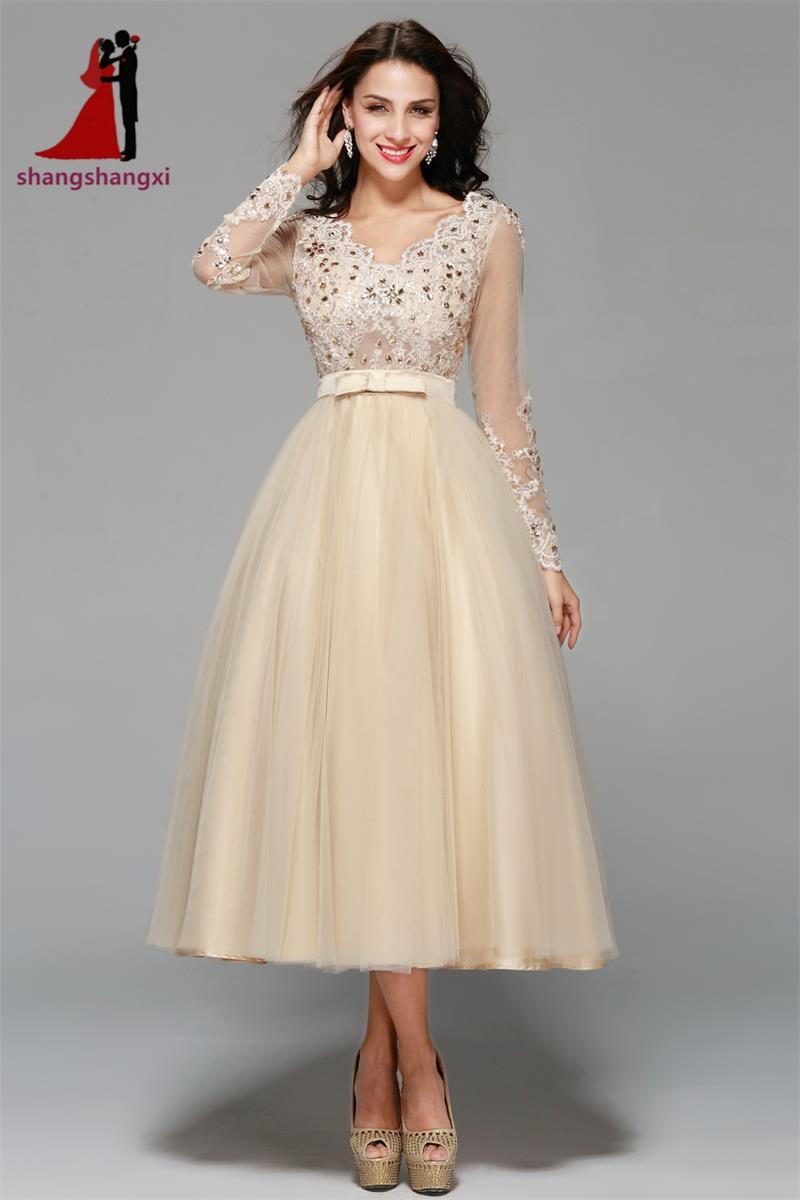 Champagne Plus Size Evening Dresses