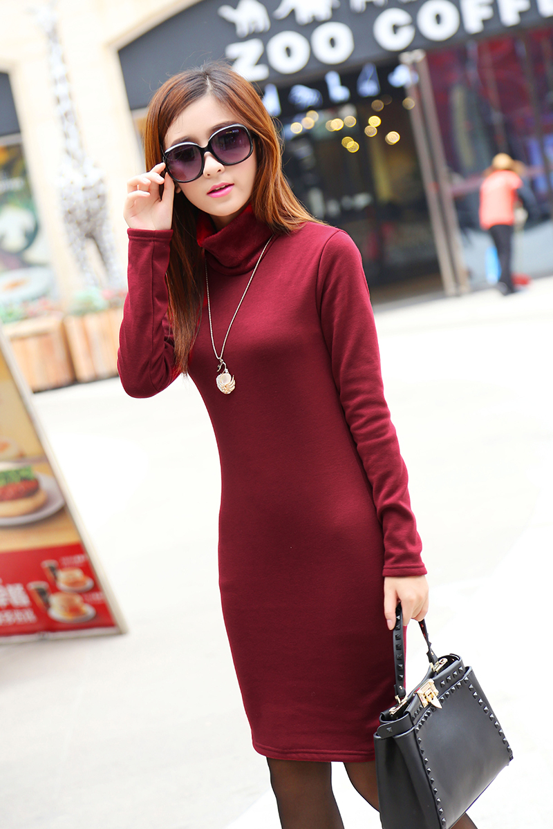 Aliexpress.com : Buy Winter Dress Fleeces Thicken Warm Dresses For ...