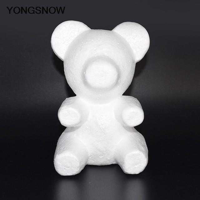 Rose Bear Flower Bear Foam Bear Mold Artificial Rose Flower Mold Modeling Polystyrene Styrofoam Bear Mother's Day Flower Gift 1