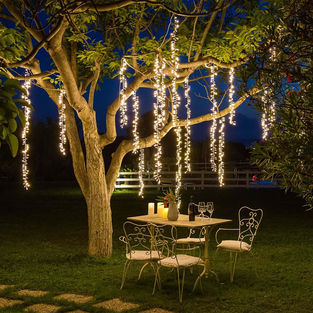 2.4m Led Tree Decor String Lights Christmas Icicle Fairy
