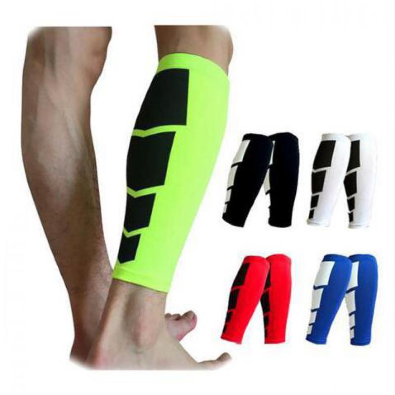 все цены на 1 Pair Shin Guards Soccer Football Protective Leg Calf Compression Sleeves Cycling Running Sports Safety shinguards HBK102