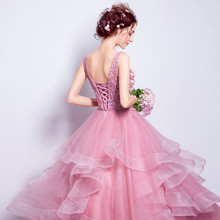 Real Photo Vestidos De 15 an Scoop Neck Ball Gown quinceanera dresses Lace-up Back Party Dress Vestidos De 15 Quinceanera Dress