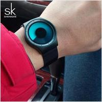 2019 Shengke Creative Women Watches Luxury Stainless Steel Quartz Watch Ladies Clock Reloj Mujer SK Top Brand Watches For Women