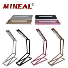 Lâmpada de Mesa LED 4 Nível de Bateria Embutida Regulável Candeeiro de Mesa Portátil Da Liga de Alumínio Dobrável Luz Da Noite