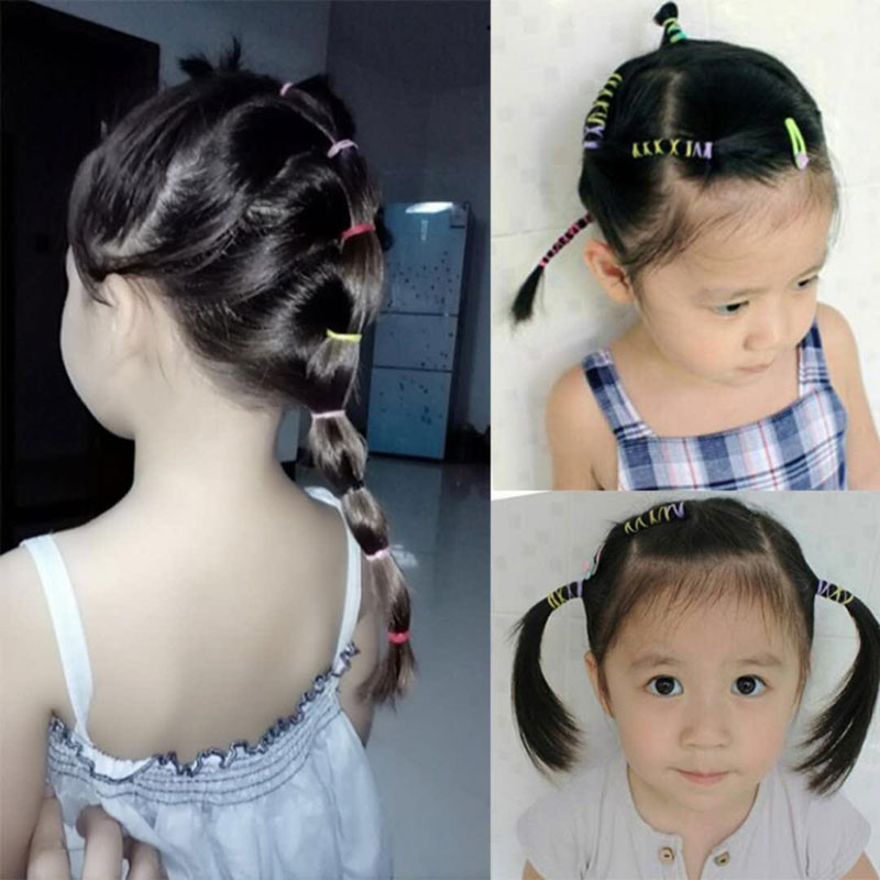 Hot Sale 2000pcs Bag Child Baby Hair Holders 2018 New Small Package