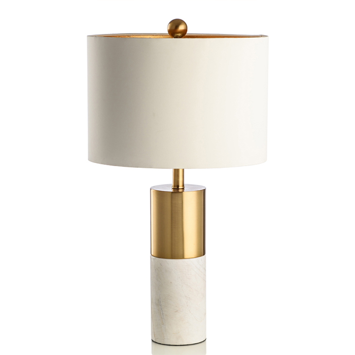 Modern Design Marble Stand Desk Table Lamp Bedside Bedroom