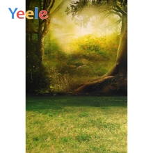 Yeele Photo Backdrops Green Spring Tree Light Garland Gate Romantic Wedding Ceremony Custom Backgrounds Photography Photo Studio
