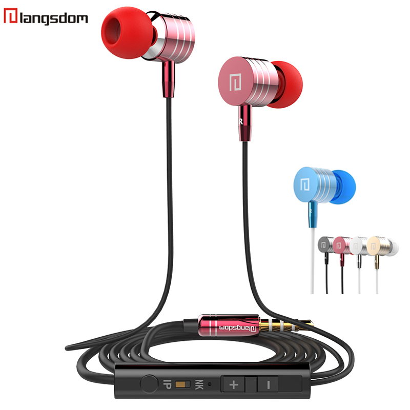 Original Langsdom i-7 In-Ear Earphone Metal Earphones Stereo Bass Headset with Microphone Handsfree for Mobile Phone MP3 MP4 PC original langsdom sp80a stereo earphones with microphone super bass 3 5mm in ear earphone for iphone xiaomi mobile phone mp3 mp4