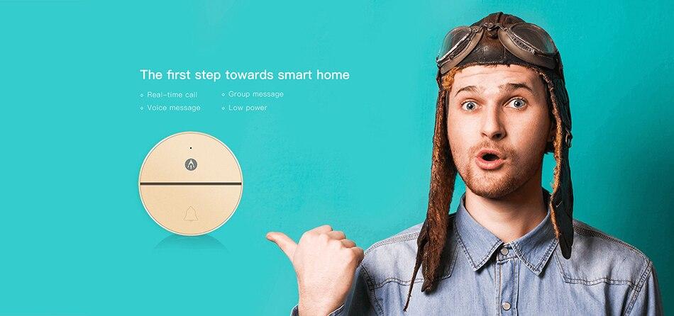 Audio Wireless Doorbell 1a Gold