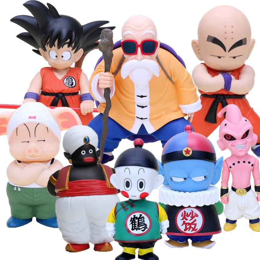 20cm Dragon Ball Z Action Figure Son Goku Krillin Master Roshi Figure Toys Model Doll  hatsune miku winter plush doll
