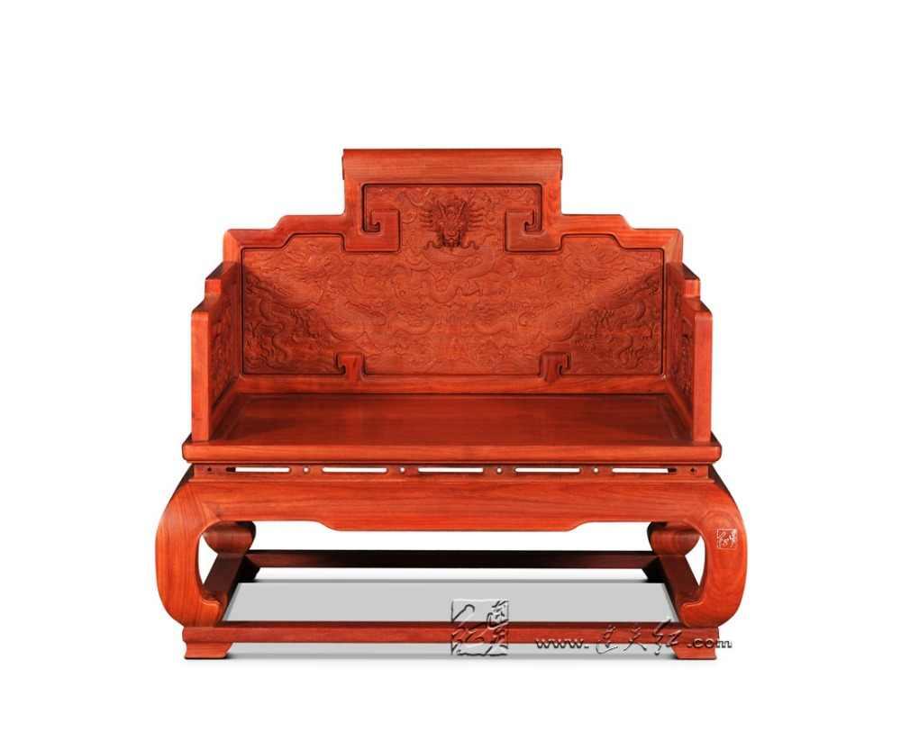 Tron z chmurą-wzór smoka meble do salonu z drzewa różanego z litego drewna krzesła z litego drewna Redwood fotel klasyczne chińskie